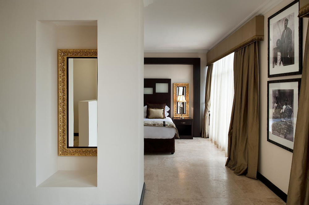 Interiors of Ghana Gold Coast at boutique hotel Villa Monticello, Accra, Ghana