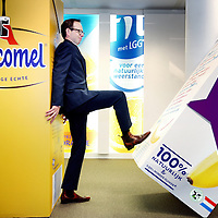 Nederland, Amersfoort , 24 januari 2014.<br /> Frenkel Denie van Friesland Campina, marketing directeur 'voor de Benelux voor alle merken behalve die van Riedel'. Officieel heet dat: consumer marketing director Benelux. <br /> Foto:Jean-Pierre Jans