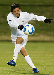 Virginia midfielder Jonathan Villanueva (10)..The Virginia Cavaliers faced the Saint Peters Peacocks in the first round of the NCAA Men's Soccer tournament held at Klockner Stadium in Charlottesville, VA on November 24, 2007.