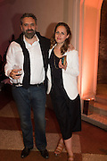 KEITH TYSON, Sarah Lucas- Scream Daddio party hosted by Sadie Coles HQ and Gladstone Gallery at Palazzo Zeno. Venice. 6 May 2015.