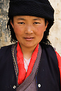 TIBET (China): Lhasa.A pilgrim at the sacred Jokhang Temple.