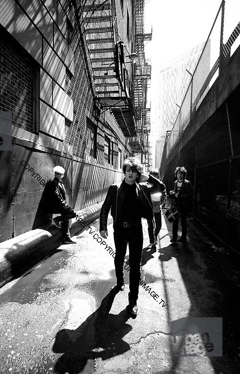 U2 - Larry Mullen, Bono, Adam Clayton and The Edge - downtown Chicago USA tour - 1981