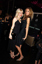 Left to right, CHARLOTTE DUTTON and SARAH EL-HINT at a party to celebrate the 10th year of Fashion Targets Breast Cancer UK held at The Cuckoo Club, Swallow Street, London W1 on 30th October 2006.<br />