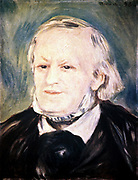 Richard Wagner (1813-1883) German composer in 1882. After the portrait by Auguste Renoir.