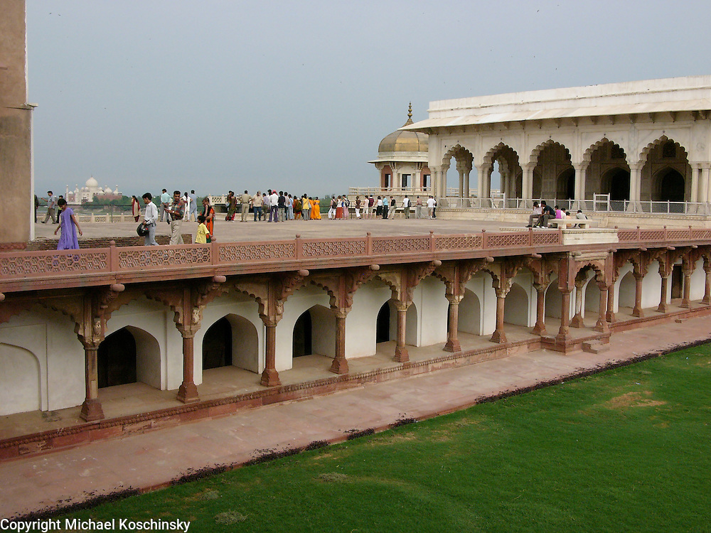 View of the Taj Mahal from the Terrace of the Fort of Agra