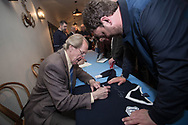 Ian Ure signs a championship season replica shirt - Dundee FC night of champions at the Whitehall Theatre, Dundee, Photo: David Young<br /> <br />  - &copy; David Young - www.davidyoungphoto.co.uk - email: davidyoungphoto@gmail.com