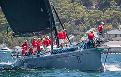 SYDNEY, Dec. 26, 2018  The boat of Wild Oats XI competes during the start of the Sydney Hobart yacht race in Sydney, Dec. 26, 2018. (Credit Image: © Xinhua via ZUMA Wire)