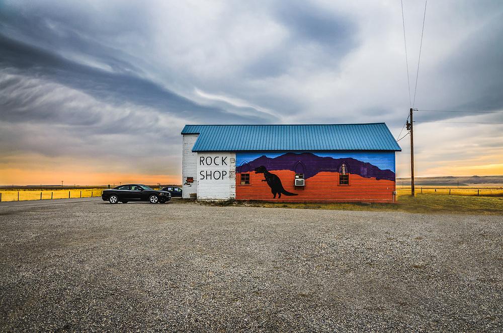Rock Shop at Bynum, Montana