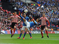 Football - 2019 EFL Checkatrade Trophy Final - Sunderland vs. Portsmouth<br /> <br /> Christian Burgess of Portsmouth clears the danger, at Wembley.<br /> <br /> COLORSPORT/ANDREW COWIE