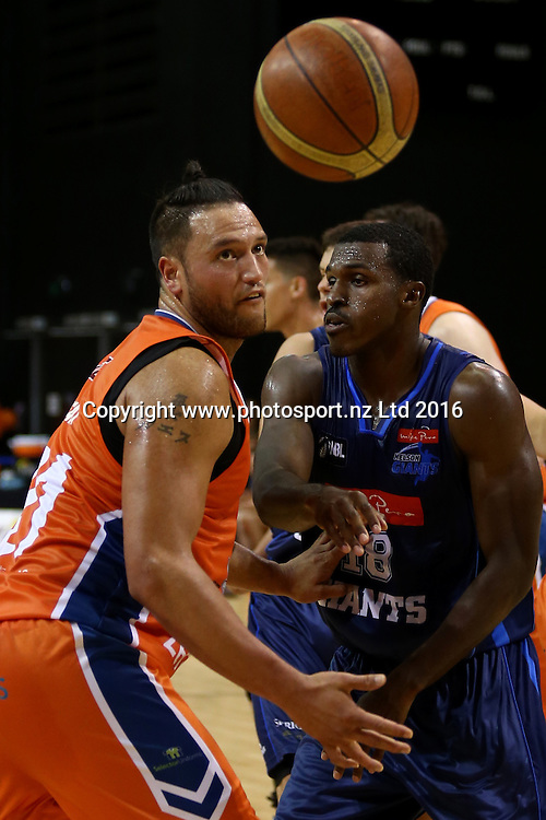 James Paringatai of the Sharks in action in the NBL basketball match between the Southland Sharks and Nelson Giants, ILT Stadium Southland, Invercargill, Saturday, March 12, 2016. Photo: Dianne Manson / www.photosport.nz