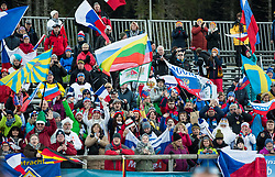 Supporters during the Men 10km Sprint at day 6 of IBU Biathlon World Cup 2018/19 Pokljuka, on December 7, 2018 in Rudno polje, Pokljuka, Pokljuka, Slovenia. Photo by Vid Ponikvar / Sportida