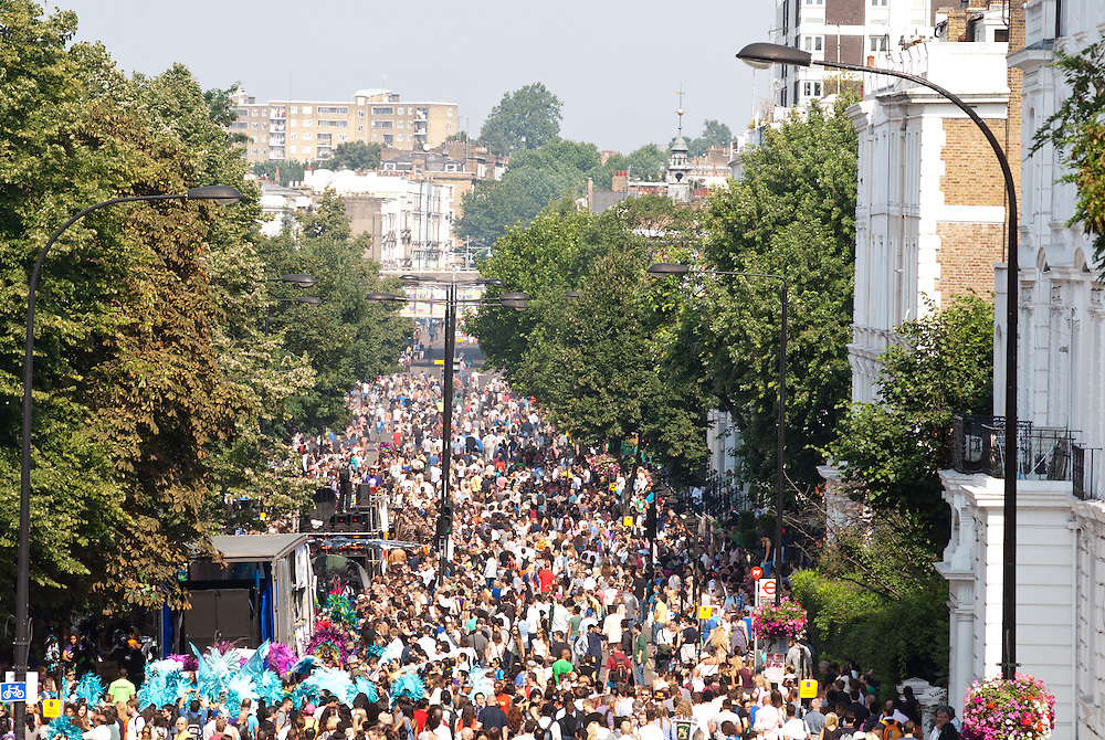London, UK - 26 August 2013: thousands take part in the annual parade at the Notting Hill Carnival.