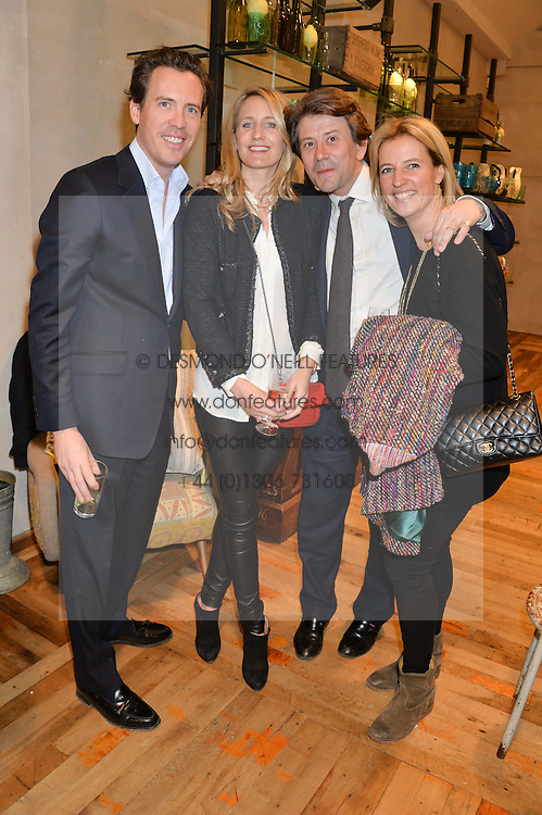 Left to right, ANDREW & ARABELLA DUNN and JAMIE & LISA CARTER at a party to celebrate the publication of 'Inspire: The Art of Living With Nature' by Willow Crossley held at Anthropologie, 131-141 Kings Road, London on 13th March 2014.