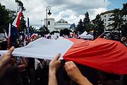 Warszawa. 16.07.2017 Protest KOD przeciwko reformie wymiaru sprawiedliwosci. Fot: Krystian Maj/FORUM