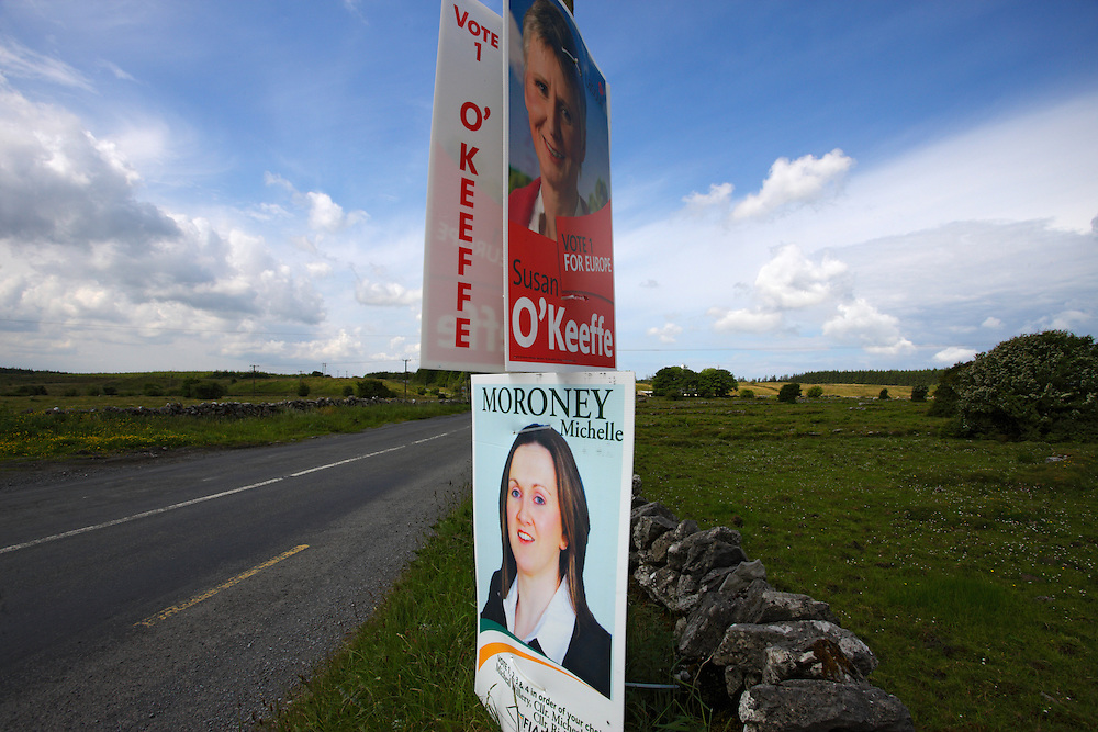 Burren landscape after the election, Ireland