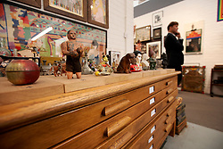 UK ENGLAND LONDON 4OCT17 - Recreation of Sir Peter Blake's studio on display during the Frieze Masters art fair in Regents Park, central London.<br /> <br /> jre/Photo by Jiri Rezac<br /> <br /> &copy; Jiri Rezac 2017