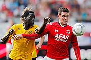 ALKMAAR - 30-08-2015, AZ - Roda JC, AFAS Stadion, 0-1, Roda JC speler Gibril Sankoh (l), AZ speler Vincent Janssen.