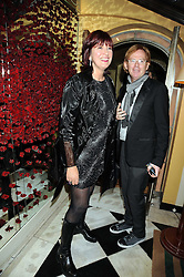JANET STREET-PORTER and DAVID COLLINS at a party to celebrate the 10th Anniversary of Claridge's Bar, Claridge's Hotel, Brook Street, London on 11th November 2008.