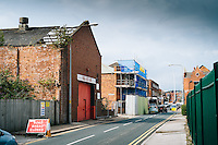 Humber Street Area, Kingston Upon Hull, East Yorkshire, United Kingdom, 08 August, 2014. Pictured:  Bit by bit Hull is being regenarated it will be interesting to see how these areas chnge over the next 5 years if plans all go ahead.