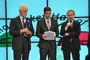 MILANO 9 FEBBRAIO 2013<br /> FIP HALL OF FAME<br /> NELLA FOTO GILBERTO BENETTON GIANNI PETRUCCI<br /> FOTO CIAMILLO