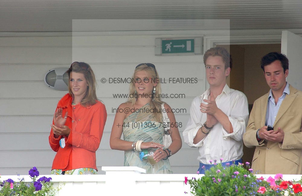CHELSEY DAVY (in green) on the balcony of the Royal Box at the Cartier International polo at Guards Polo Club, Windsor Great Park, on 30th July 2006.<br />