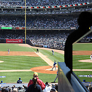 Masahiro Tanaka, New York Yankees, pitching during the New York Yankees Vs Toronto Blue Jays season opening day at Yankee Stadium, The Bronx, New York. 6th April 2015. Photo Tim Clayton