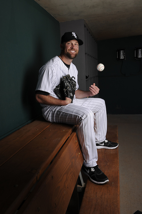 GLENDALE - MARCH 02:  John Danks of the Chicago White Sox poses for a portrait on March 02, 2012 at Camelback Ranch in Glendale, Arizona.  (Photo by Ron Vesely)