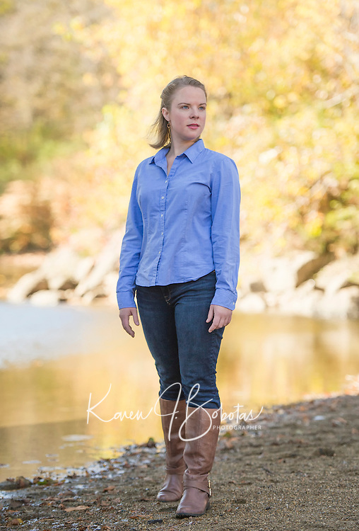 Amy Weston headshot session at Smith Bridge Plymouth, NH.  ©2016 Karen Bobotas Photographer