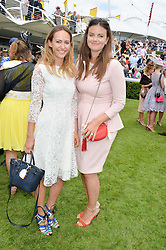 Left to right, LAVINIA BRENNAN and LADY NATASHA FINCH at the Qatar Goodwood Festival - Ladies Day held at Goodwood Racecourse, West Sussex on 30th July 2015.