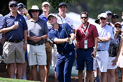 September 24, 2017 - Atlanta, Georgia, United States - Justin Rose chips on to the first green during the final round of the TOUR Championship at the East Lake Club. (Credit Image: © Debby Wong via ZUMA Wire)