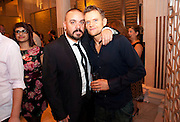 LEE BOARDMAN;; MARC WARREN, Aldwych theatre's Cool Hand Luke first night party. Waldorf Hilton. London. 3 October 2011. <br /> <br />  , -DO NOT ARCHIVE-© Copyright Photograph by Dafydd Jones. 248 Clapham Rd. London SW9 0PZ. Tel 0207 820 0771. www.dafjones.com.