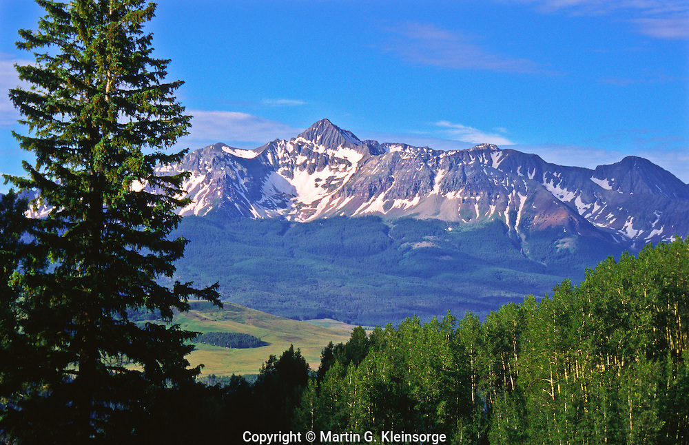 14,017 ft.  Wilson Peak of the San Miguel Range.  Viewed from along the Last dollar Road.  Colorado, USA>