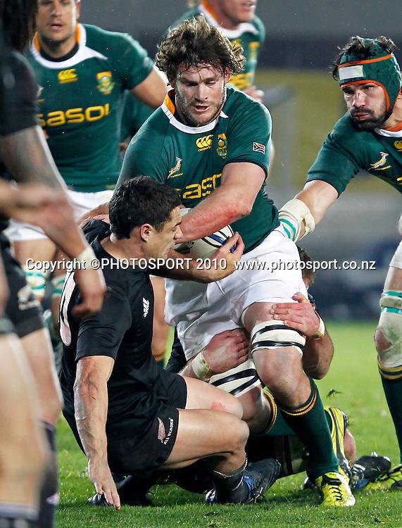Springbok player Danie Rossouw. Rugby Union International Test Match. Investec Tri-Nations, New Zealand All Blacks v South Africa Springboks, Eden Park, Auckland, New Zealand. Saturday 10 July 2010. Photo: Simon Watts/PHOTOSPORT