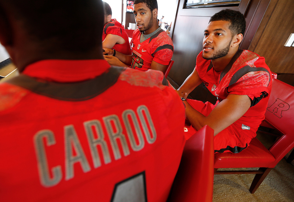 PISCATAWAY, NJ - August 10: Rutgers Scarlet Knights Media Day at High Point Solutions Stadium on August 10, 2014 in Piscataway, New Jersey. (Photo by Rich Schultz)
