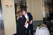 LADY ANNABEL GOLDSMITH; ZAC GOLDSMITH, Book launch of Lady Annabel Goldsmith's third book, No Invitation Required. Claridges's. London. 11 November 2009