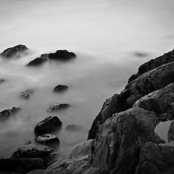 Rocks and surf, Wallis Sands State Park, Rye, New Hampshire.