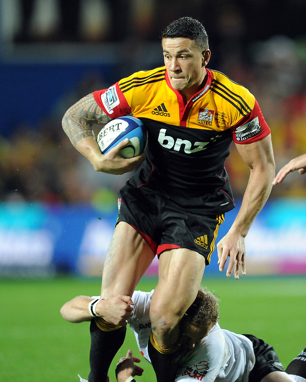 Chiefs Sonny Bill Williams against the Sharks in the Super 15 Rugby final match, Waikato Stadium, New Zealand, Saturday, August 04, 2012. Credit:SNPA / Ross Setford