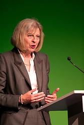 © Licensed to London News Pictures. 10/09/2013. Chesford Grange Hotel, Kenilworth, Warwickshire, UK. Home Secretary, Theresa May, guest speaker at the Police Superintendents' Association Annual Conference. Pictured, Theresa May giving her speech. Photo credit : Dave Warren/LNP