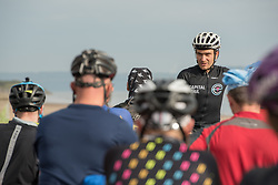 Fifty intrepid mountain bikers set off from Portobello beach this morning on a weekend time-trial tour of the Lothians and Borders. The event - not a race, but more of a personal challenge - will take them just shy of 150 miles over the next two days. Pictured: Event Organiser Markus Stitz<br /> <br /> <br /> &copy; Jon Davey/ EEm