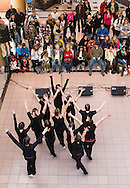 "Town of Wallkill, New York - Members of the cast of ""Peter Pan"" from Port Jervis High School perform at the Orange County Arts Council All-County High School Musical Showcase and Arts Display at the Galleria at Crystal Run on Feb. 28, 2015. The theme of the event was: ""Arts Build Confidence""."