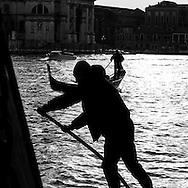 Italy. Venice. gondolas on Grand canal Venice - Italy  / gondoles sur le grand canal  Venise - Italie  D