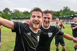 Nik Lorbek of NS Mura and Aleksandar Boskovic of NS Mura celebrates after football match between NS Mura and NK Domzale in 3rd Round of Prva liga Telekom Slovenije 2018/19, on Avgust 05, 2018 in Mestni stadion Fazanerija, Murska Sobota, Slovenia. Photo by Mario Horvat / Sportida