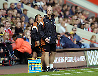 Photo: Olly Greenwood.<br />Charlton Athletic v Arsenal. The Barclays Premiership. 30/09/2006. Charlton's manager Iain Dowie looks frustrated