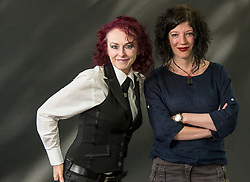 Pictured: Roisie Garland and Jess Richards. Rosie Garland has published five solo collections of poetry and her award-winning short stories, poems and essays have been widely anthologized. She is is the author of Vixen and her debut novel, The Palace of Curiosities won Book of the Year in the Co-op Respect Awards 2013. Jess Richards was born in Wales in 1972, grew up in Scotland and studied Creative Writing at Sussex University in 2010. <br /> <br /> Book fanatics headed to Charlotte Square in Edinburgh which is the hub of the international Book Festival to meet the authors and also to meet up with fellow fans of the printed word.<br /> <br /> 27 August 2017