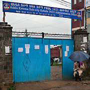 The community space where Biruh Tesfa meets. Biruh Tesfa means bright future in Amharic, and is a program for urban adolescent girls at risk of exploitation and abuse. For many girls, going to Biruh Tesfa is their only hope of an education and a respite from their domestic work. ..The program promotes functional literacy, life skills, livelihoods skills, and HIV/reporductive health education through girls' clubs led by adult female mentors. The girls' clubs are held in meeting spaces donated by the kebele (local administration).