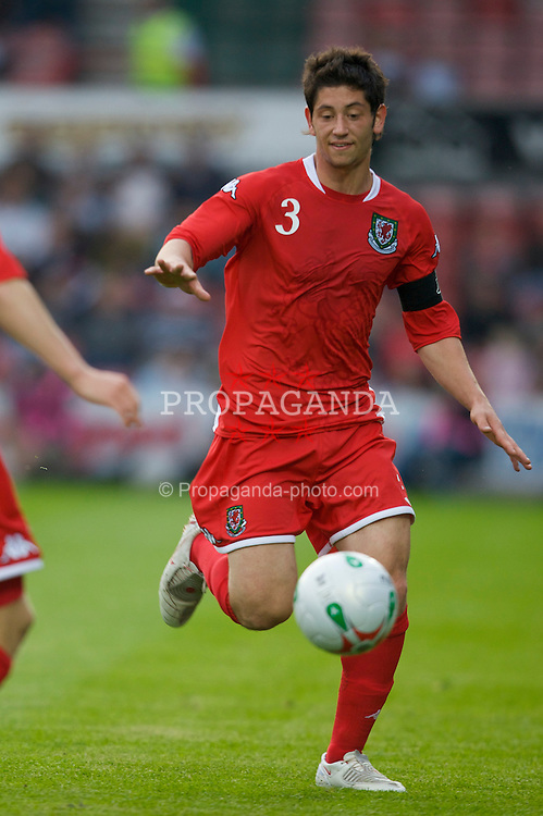 WREXHAM, WALES - Thursday, May 15, 2008: Wales' captain Joe Jacobson in action against England during the Under-21 Friendly match at the Racecourse Ground. (Photo by David Rawcliffe/Propaganda)