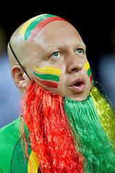 Fans of Lithuania during basketball game between National basketball teams of Slovenia and Lithuania at of FIBA Europe Eurobasket Lithuania 2011, on September 15, 2011, in Arena Zalgirio, Kaunas, Lithuania.  (Photo by Vid Ponikvar / Sportida)