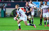 Jules PLISSON - 24.04.2015 - Stade Francais / Stade Toulousain - 23eme journee de Top 14<br />Photo : Dave Winter / Icon Sport