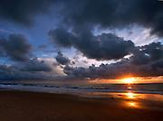Stormy Coastal Sunset In Orange County California