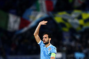 Marco Parolo of Lazio gestures during the UEFA Europa League, Group E football match between SS Lazio and CFR Cluj on November 28, 2019 at Stadio Olimpico in Rome, Italy - Photo Federico Proietti / ProSportsImages / DPPI